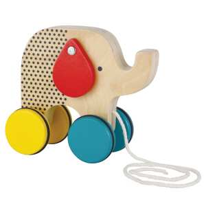 Petit Collage Wooden Pull Toy - Jumping Jumbo