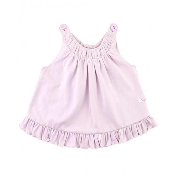 RuffleButts Soft Lilac Knit Ruffle Swing Top
