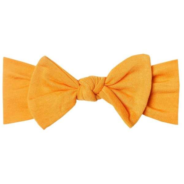 Copper Pearl Solar Knit Headband Bow