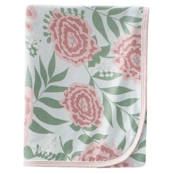 KicKee Pants Fresh Air Florist Swaddle Blanket