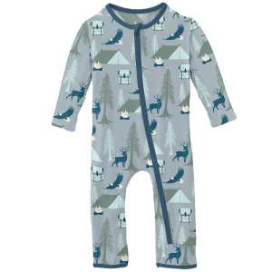 KicKee Pants Pearl Blue Wilderness Guide Coverall with Zipper
