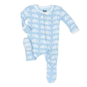 KicKee Pants Pond Elephant Footie with Snaps