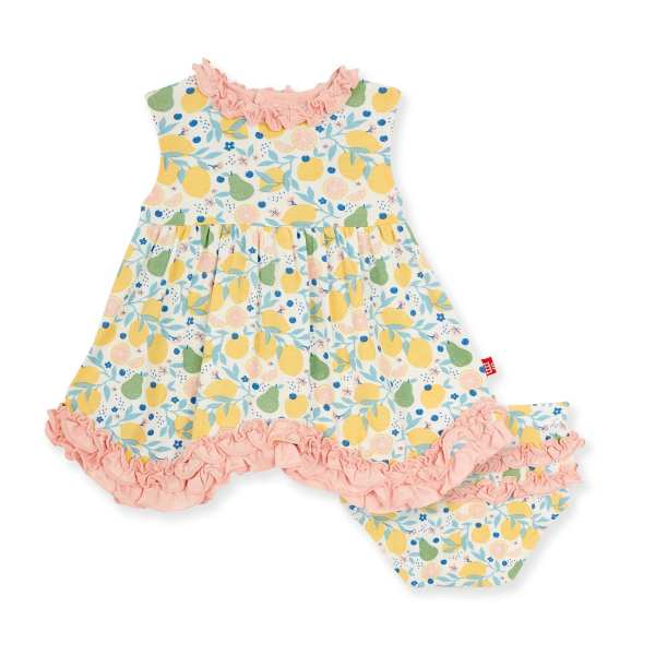 Magnetic Me Citrus Bloom Dress & Diaper Cover