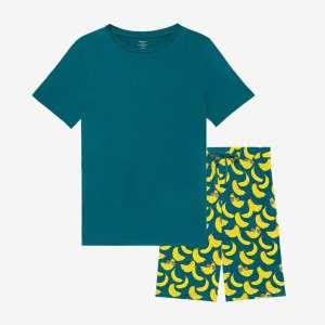Posh Peanut Bananas Men's Short Sleeve & Shorts Loungewear Set