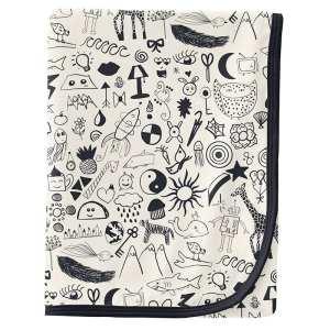 KicKee Pants Doodles Swaddle Blanket