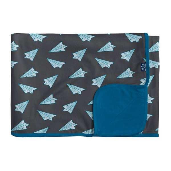 KicKee Pants Lined Paper Airplanes Toddler Blanket