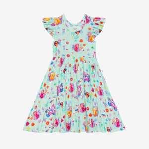 Posh Peanut Kai Ruffled Cap Sleeve Twirl Dress