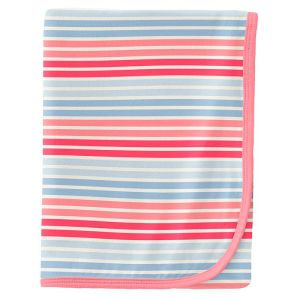 KicKee Pants Cotton Candy Stripe Swaddle Blanket