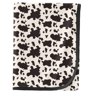 KicKee Pants Cow Print Swaddle Blanket