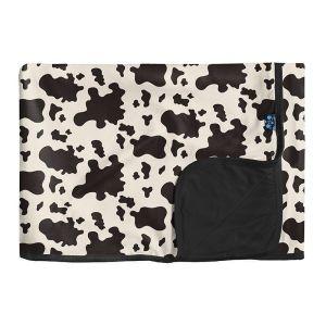 KicKee Pants Cow Print Toddler Blanket