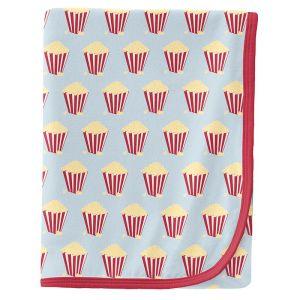 KicKee Pants Illusion Blue Popcorn Swaddle Blanket