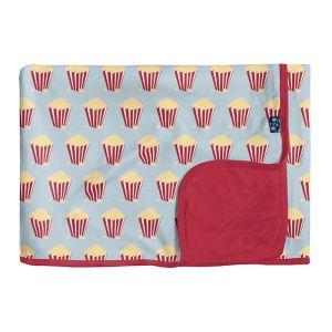 KicKee Pants Illusion Blue Popcorn Toddler Blanket