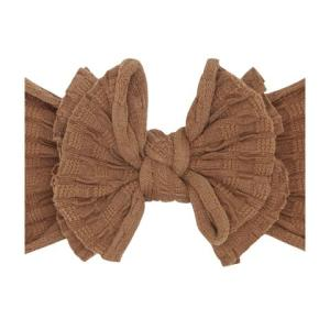 Baby Bling Waffle Fab-Bow-Lous Bow - Camel