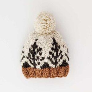 Huggalugs Forest Knit Pom Pom Beanie Hat