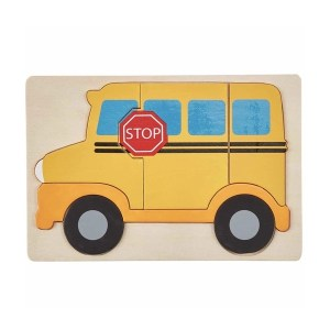 Mud Pie Wooden Puzzle - School Bus