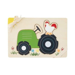Mud Pie Wooden Puzzle - Tractor Farmhouse