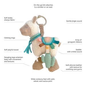 Itzy Ritzy Link & Love™ Llama Activity Plush with Teether Toy