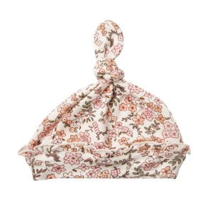 Angel Dear Vintage Calico Ruffle Knotted Hat
