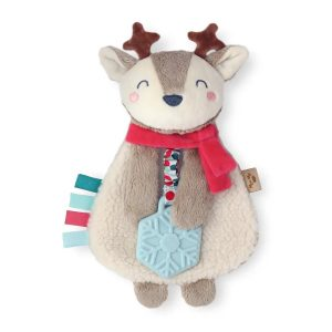 Itzy Ritzy Lovey Holiday Reindeer Plush with Silicone Teether Toy
