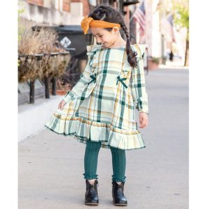 RuffleButts Footless Ruffle Tights - Twilight Cable-Knit