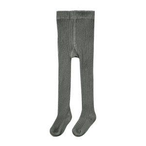 Rylee + Cru Rib Knit Solid Ribbed Tights - Charcoal
