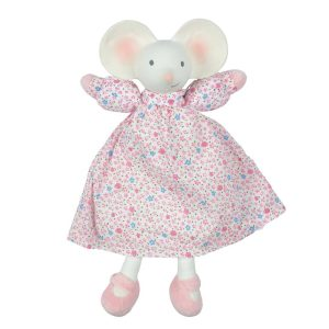 Tikiri Toys Meiya the Mouse - Lovey with Organic Natural Rubber Head