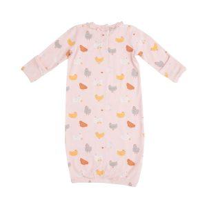 Angel Dear Chickens Kimono Gown - Pink