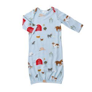 Angel Dear Farm Life Gown - Blue