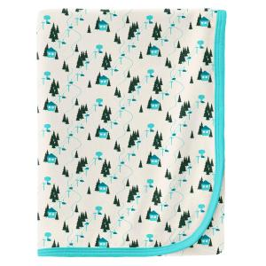 KicKee Pants Natural Chairlift Print Swaddle Blanket