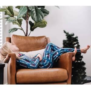KicKee Pants Twilight Skis Print Long Sleeve Pajama Set