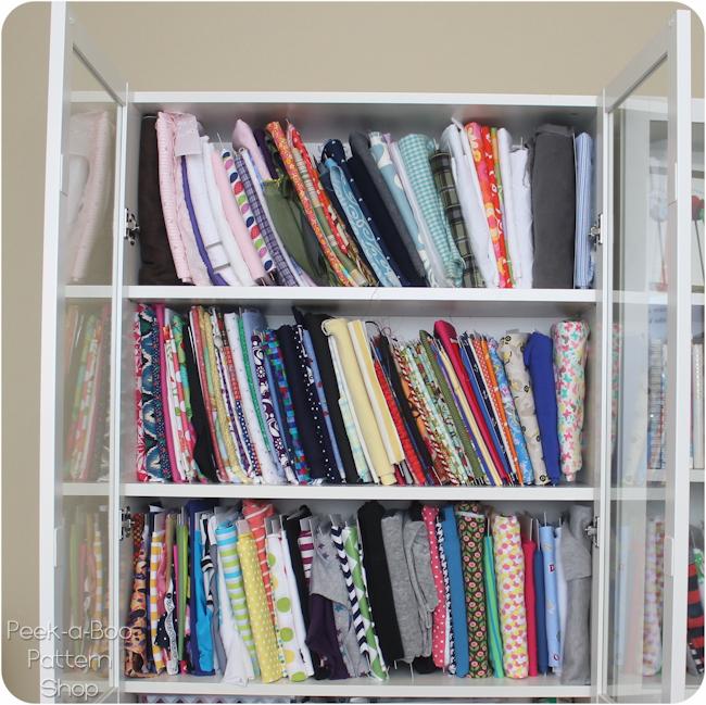 fabric organization closet