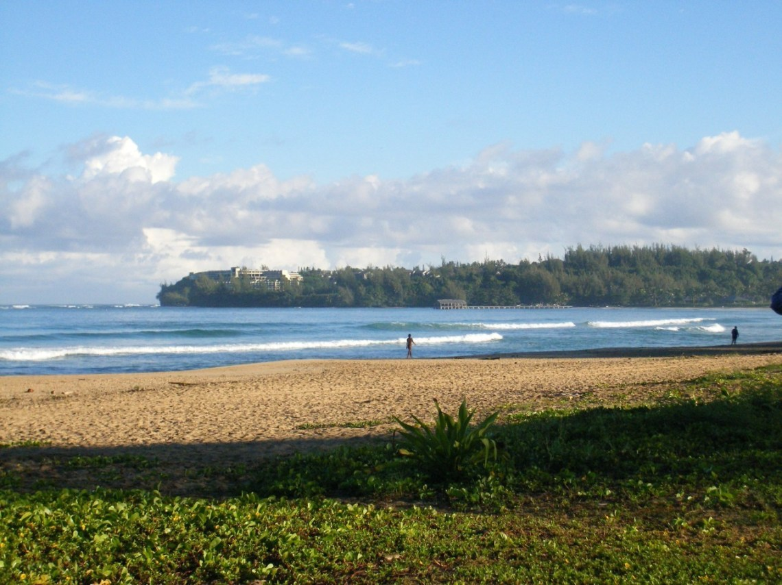 Hanalei Bay from Waioli Beach Park 1