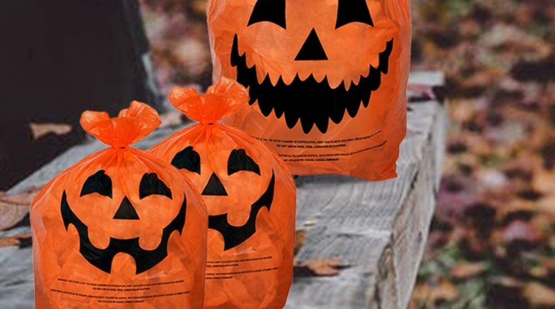 Pumpkin Plastic Lawn and Leaf Bags Decoration
