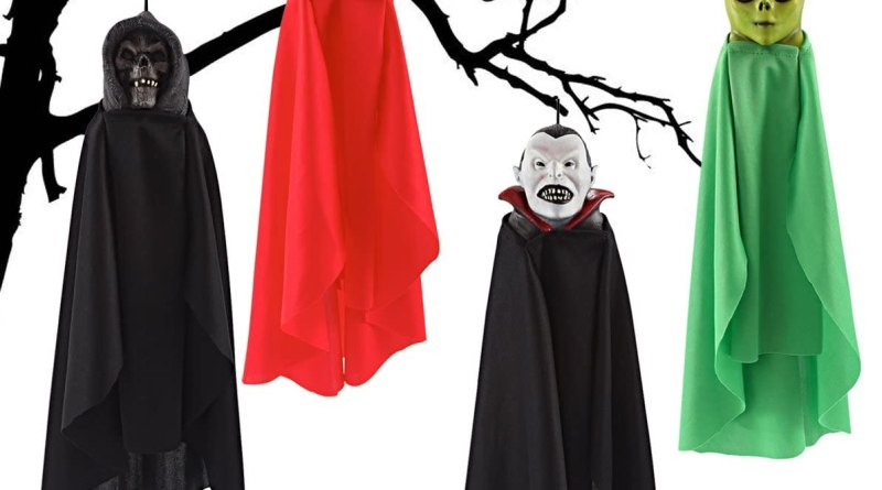 Set of Four 16 Inch Hanging Ghost Halloween Decorations