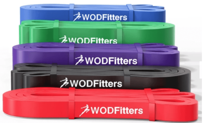 WODFitters Assisted Pull-Up Resistance Bands for Cross Training and Power-Lifting (Choose 4 or 5 Band Set or Single Band)