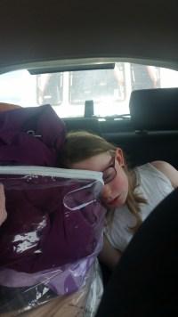 Fast asleep the whole way home