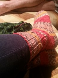 Handknit socks and knitting, what more could you want?
