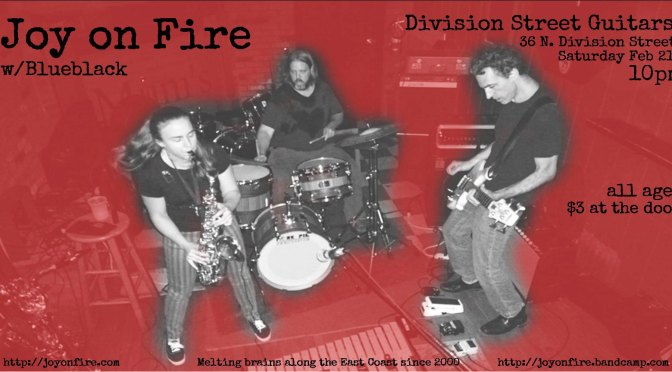 Joy on Fire at Division Street Guitars this Saturday!