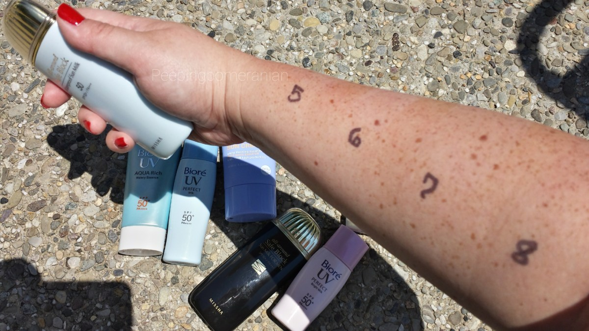 Sunscreen showdown 2K16: Review of Biore, Missha, TonyMoly, Sunbears and Holika Holika Sunscreens