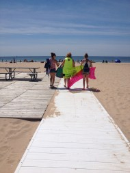 Able-bodied people enjoying the Boardwalk