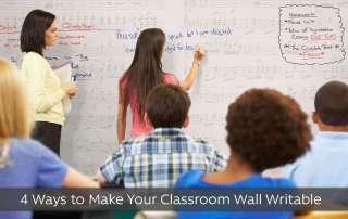 classroom wall writable