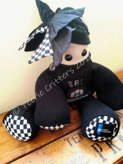 I was asked by a local constable if I could make a keepsake Critter from The old Northern Constabulary uniform which changed to Police Scotland in 2009© Peerie Critters 2014 She is lovely....Just fab! ~ Carole