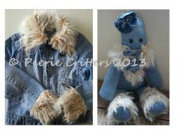 Made from a jacket that Carris had kept since she was small as a surprise for her 21st Birthday Carris mum smuggled it out of her wardrobe and got it to me, with a bit of jiggery pokery this Peerie Critter keepsake was created ♥ © Peerie Critters 2013