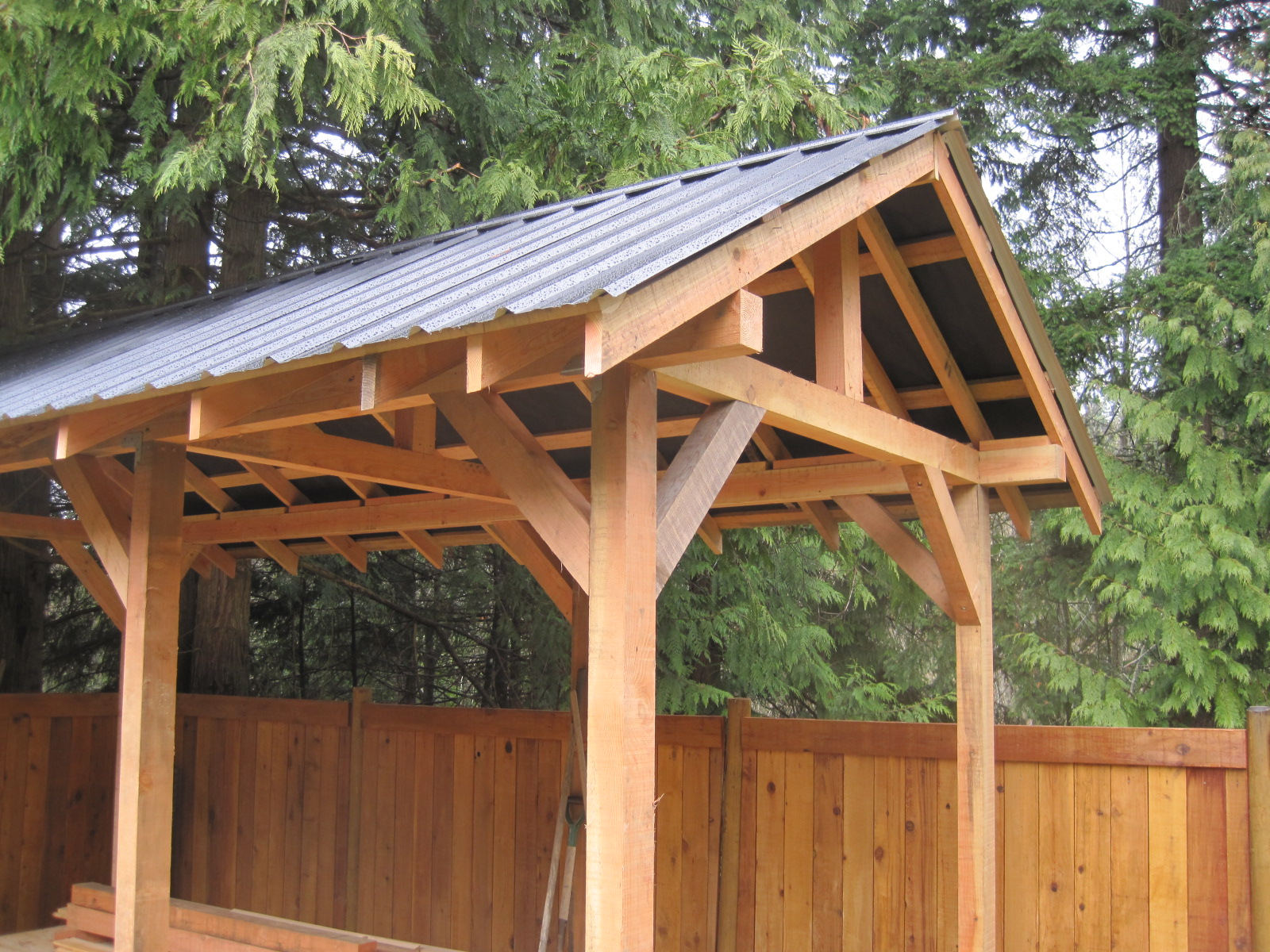 Custom Small Post And Beam Structures Peerless Forest