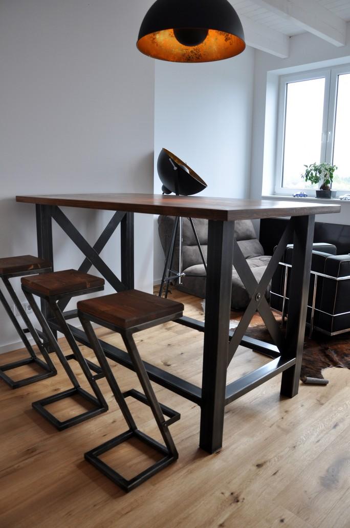 Esstisch Bank Holz   Esstische Industrie, Industriestyle ...