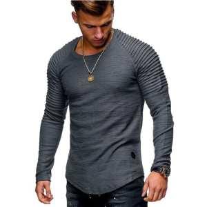 T-shirt fibre de bambou design décontracté à manches longues