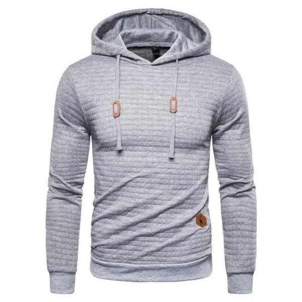 Men's plaid hoodie hoodie