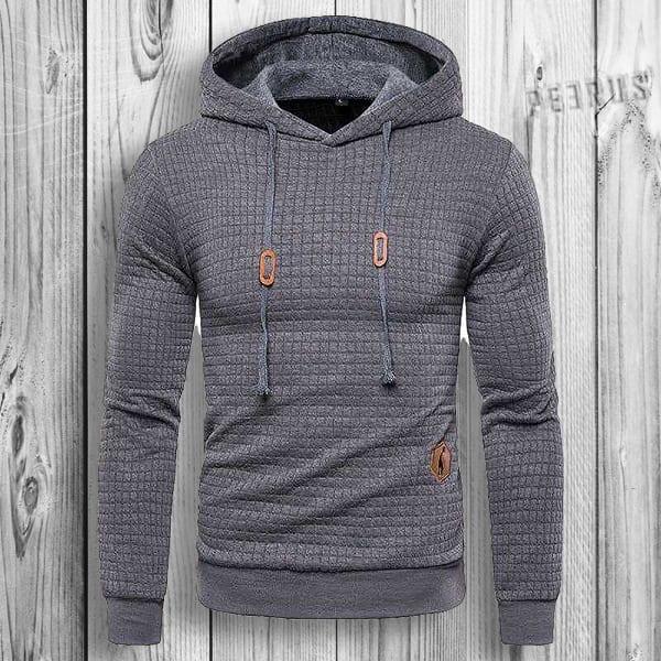 Sweat à capuche hoodie design plaid pour homme