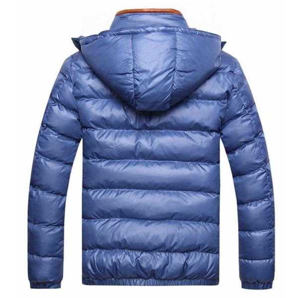 Men's thick hooded thermal wind-cutter