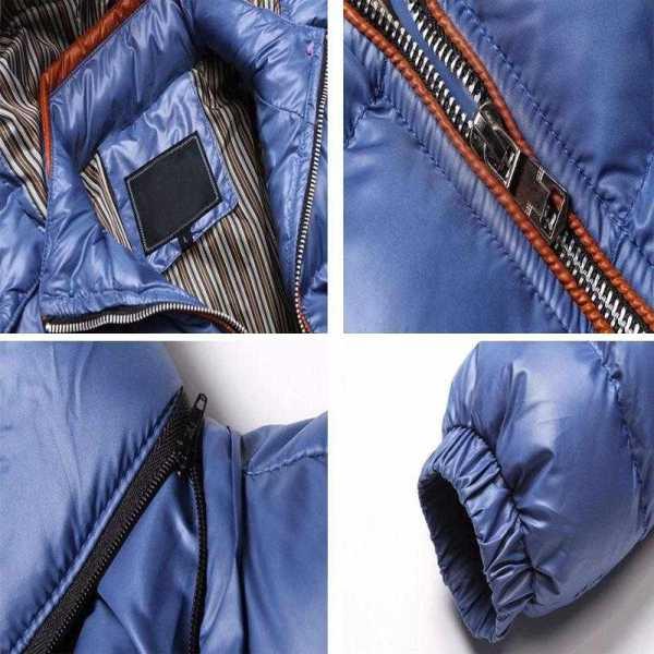 Doudoune thermique coupe-vent épais à capuche pour homme